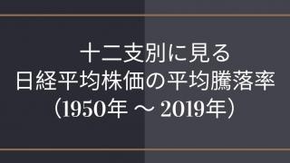 【2019年データ更新】十二支別に見る日経平均株価の騰落率ロゴ