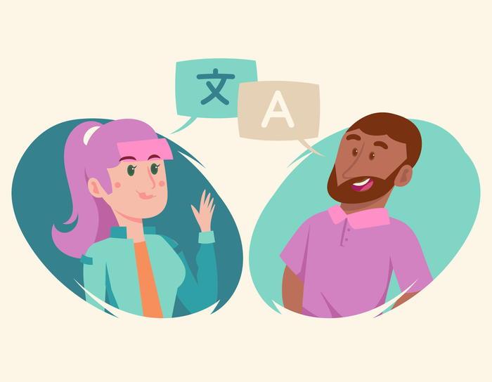 異言語で話す人達の図